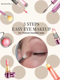 3 steps  easy mature hooded eye makeup  for beginners